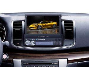 radio de coche con gps y camara trasera